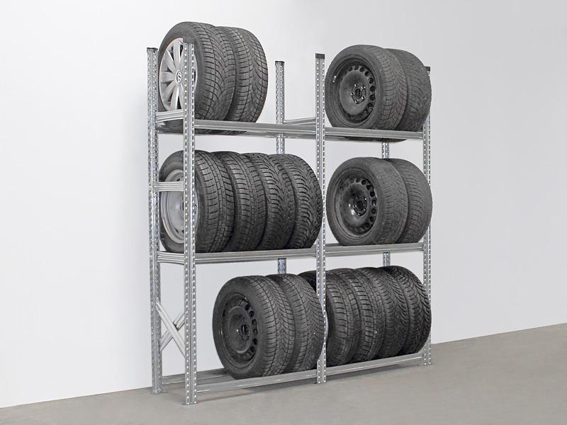 Reifenregal Super, 3 Ebenen, Set (2 Felder), Feldlänge 1200 mm