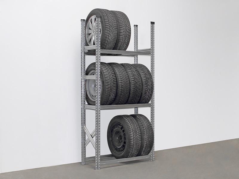 Reifenregal für 12 Reifen, Feldlänge 1200 mm