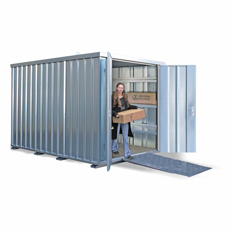 Schnellbaucontainer SC20 mit 2-flügeliger Tür