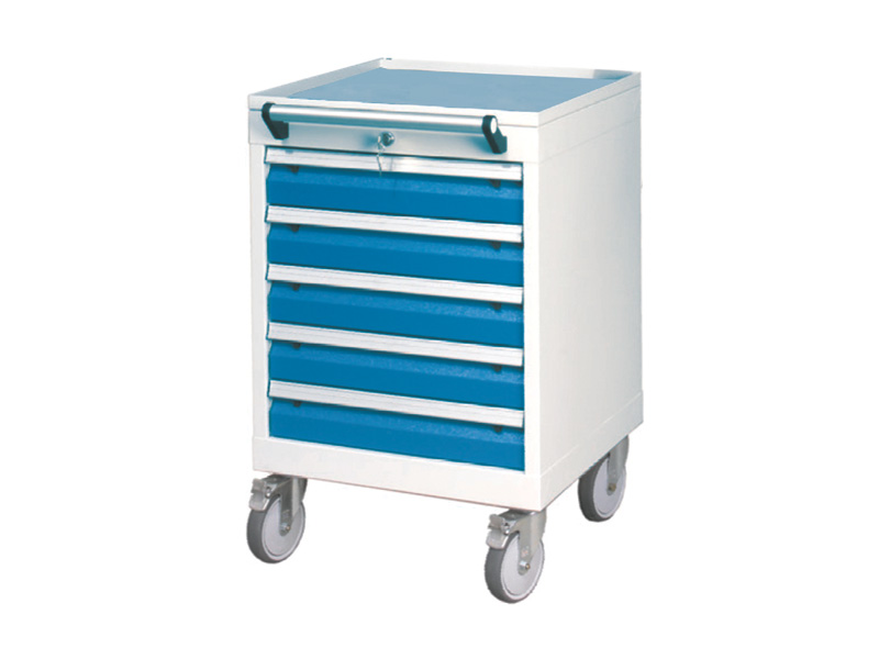 Mobiler Werkstattschrank mit 5 Schubladen