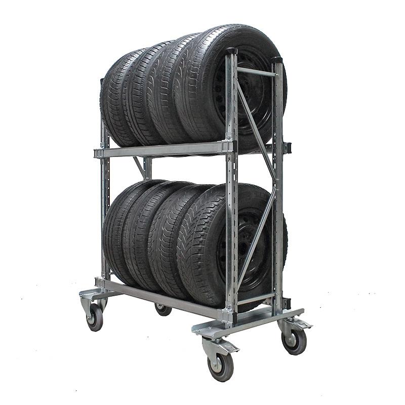 Reifenregal fahrbar, Reifenwagen GENIUS