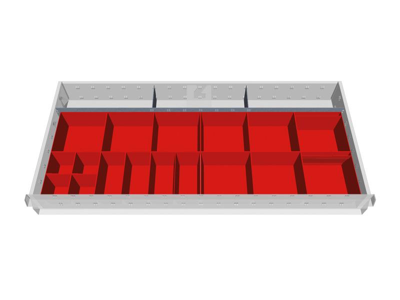 schubladeneinteilung innenma 900x400 zubeh r werkstattschrank onlineshop lagertechnik steger. Black Bedroom Furniture Sets. Home Design Ideas