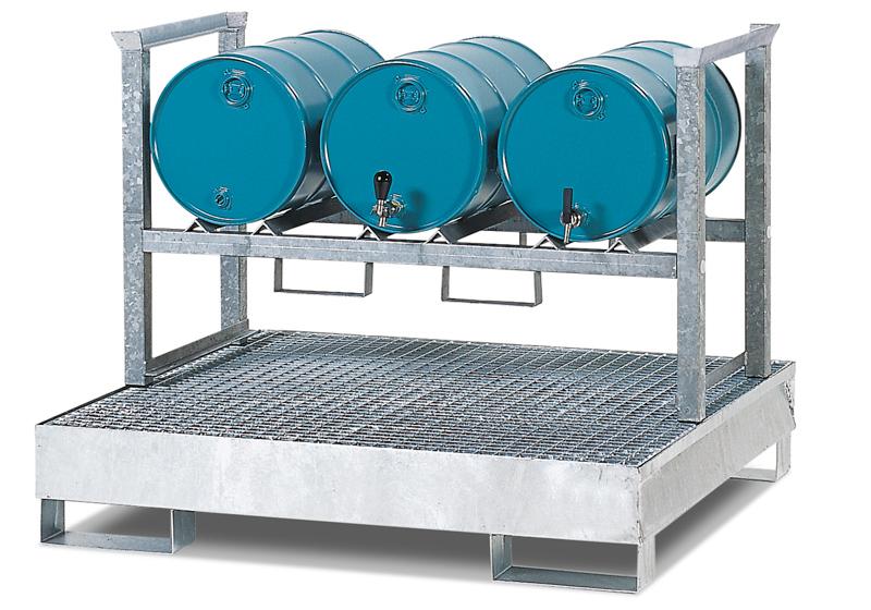 Kanister- und Kleingebinderegal, H 790 x T 1120 x L 1340 mm