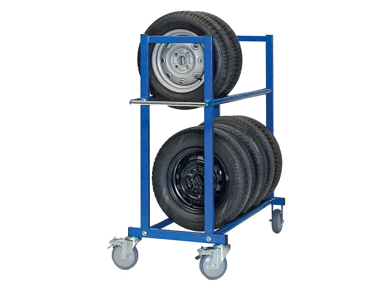 Reifentransportwagen, 2 Ebenen, blau