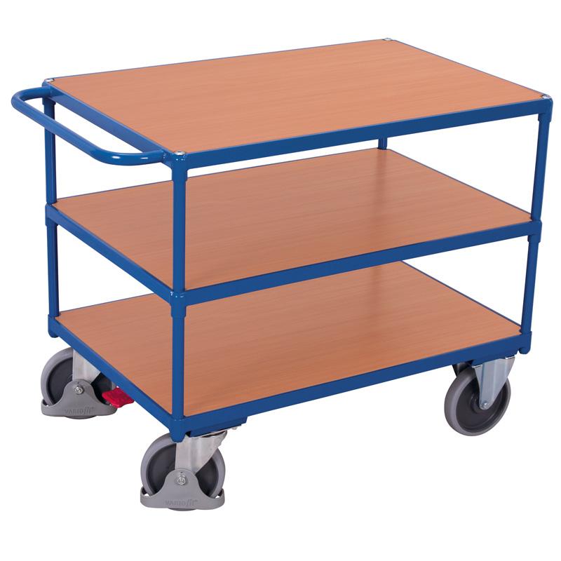 Tischwagen schwer mit 3 Ebenen, Traglast 500 kg
