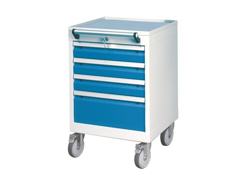 Mobiler Werkstattschrank mit 4 Schubladen