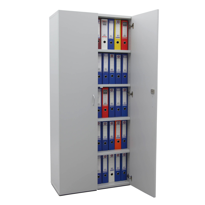 Büroschrank aus holz  Büroschrank aus Holz mit 2 Ordnerhöhen | Lagertechnik Steger Shop