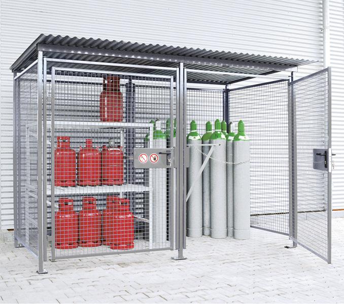 feuerverzinkte Universal-Gitterbox für Außenbereich