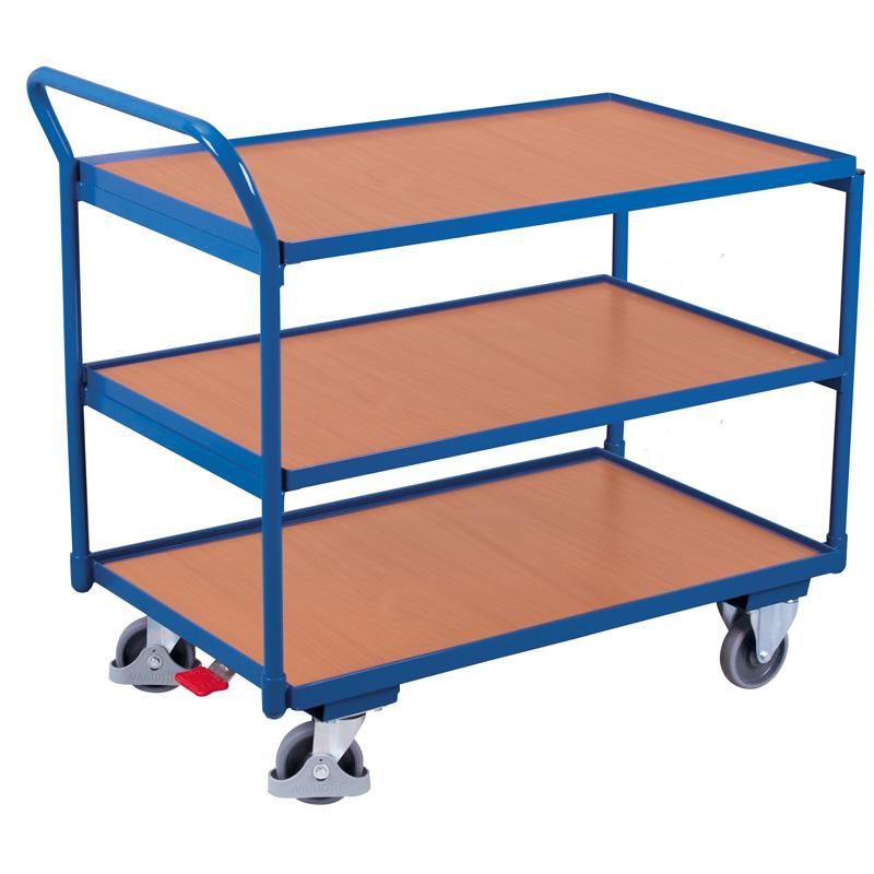 Tischwagen mit 3 Ladeflächen, 250 kg Traglast