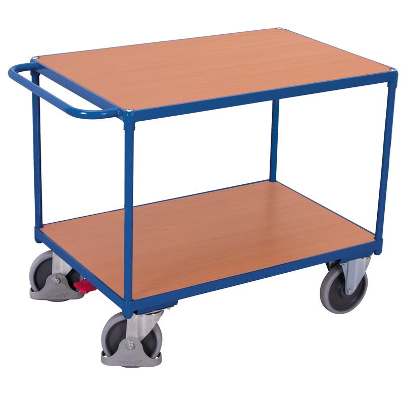 Tischwagen mit 2 Ladeflächen, schwere Ausführung (Tragkraft 500 kg)