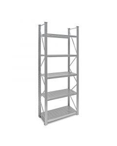 Industrieregal Metall - Regalsystem UNIRACK - Grundregal H 2,5 x T 0,4 x L 0,9 m