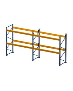 Palettenregal Set H 3000 x T 1100 x L 5800 mm mit 4 Balkenpaaren L 2700 mm