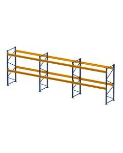 Palettenregal Set H 3000 x T 1100 x L 5975 mm, 3 Felder