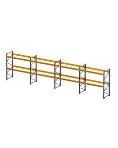Palettenregal Set H 3000 x T 1100 x L 7900 mm für 24 Palettenstellplätze
