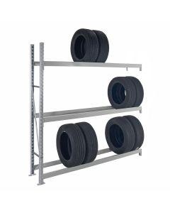 Weitspann-Reifenregal | One Anbaufeld mit 3 Ebenen