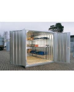 Schnellbaucontainer SC3000 mit zweiflügeliger Tür (stirnseitig)