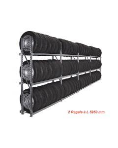 Reifenregal GENIUS 2x L5,95m für Reifencontainer neu (Art. 23-034-000064)