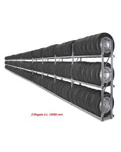Reifenregal GENIUS 2x L 12 m für Reifencontainer RC40