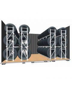 Regalset für Reifenlagercontainer XXL