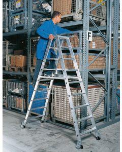 Aluminium Stehleiter zweiseitig mit je 6 Stufen