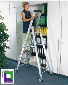 Alu Leiter für Büro und Archiv, 3 Stufen