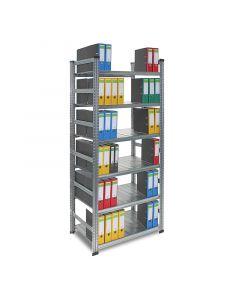 Archivregal SUPER - Grundfeld H 2,24 x T 0,6 x L 1,2 m mit 6 Böden, 2 Ordnertiefen