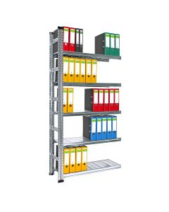 Archivregal System SUPER Anbaufeld mit 5 Böden
