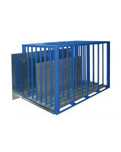 Blechlagerbox mit 7 Fächern - H 1,75 x T 1,1 x L 3,0 m