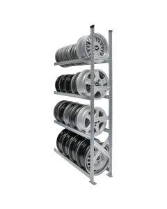 Felgenregal H 2000 mm   Anbaufeld mit 4 Ebenen