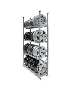 Felgenregal Grundfeld H 2,0 x T 0,3 x L 1,2 m mit 4 Lagerebenen - Regalsystem SUPER