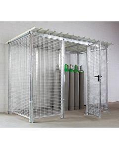 Gasflaschenbox für den Außenbereich - Ausführung mit Dach