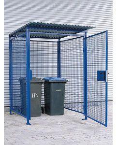 Universal-Gitterbox zinkgrundiert mit Pulverbeschichtung blau