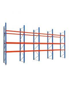 Palettenregal Schwerlastregal Set mit 12 Balkenpaaren L 1,80 m