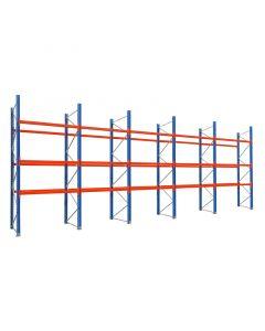 Palettenregal 12 Balkenpaare L 2,70 m | H 3,9 x T 1,1 x L 11,3 m