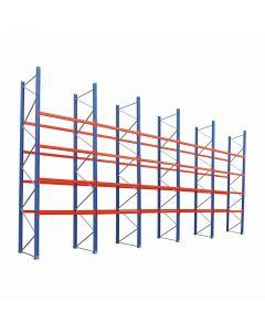 Palettenregal Set mit 20 Balkenpaaren L 1,80 m | H 5,25 x T 1,1 x L 9,6 m