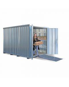 Schnellbaucontainer SC10 mit zweiflügeliger Tür
